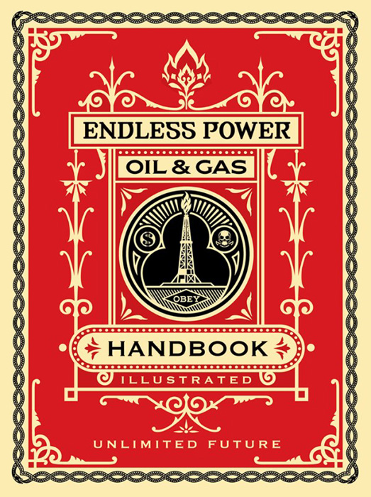 Shepard Fairey Obey silkscreen Siebdruck 2015 endless power handbook poster