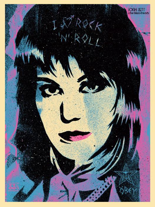 Shepard Fairey Obey silkscreen Siebdruck 2015 joan jett poster