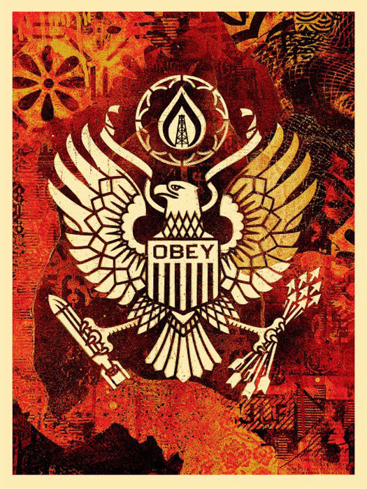 Shepard Fairey Obey silkscreen Siebdruck 2015 keep it underground