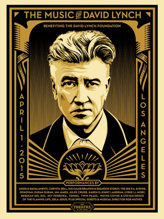 Shepard Fairey Obey silkscreen Siebdruck 2015 the music of david lynch poster