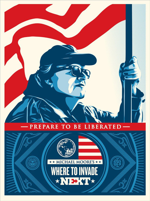 Shepard Fairey Obey silkscreen Siebdruck 2016  where to invade next