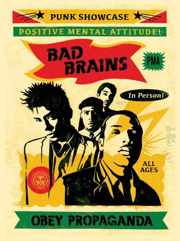 Shepard Fairey Obey silkscreen Siebdruck 2016 Bad Brains Rasta