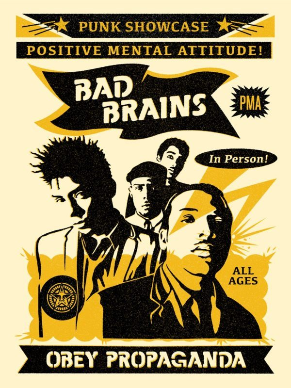 Shepard Fairey Obey silkscreen Siebdruck 2016 Bad Brains rock for light