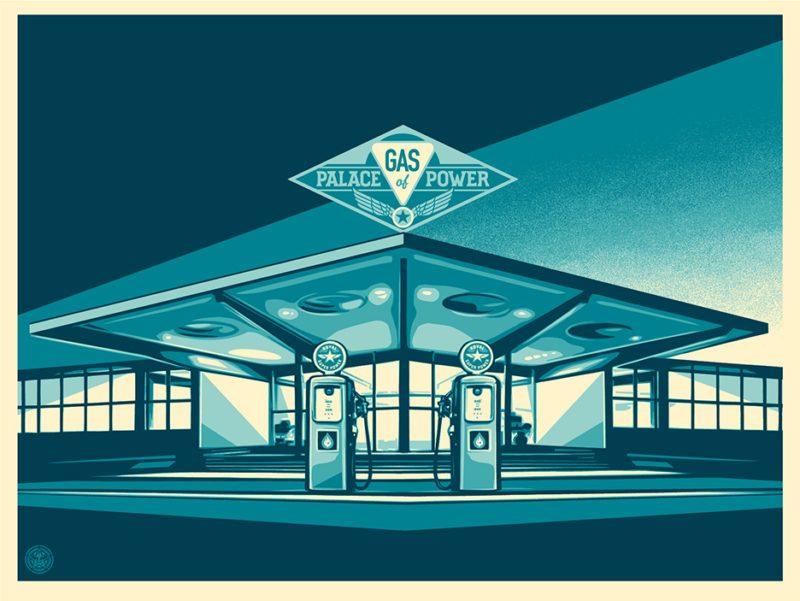 Shepard Fairey Obey silkscreen Siebdruck 2016 palace of power