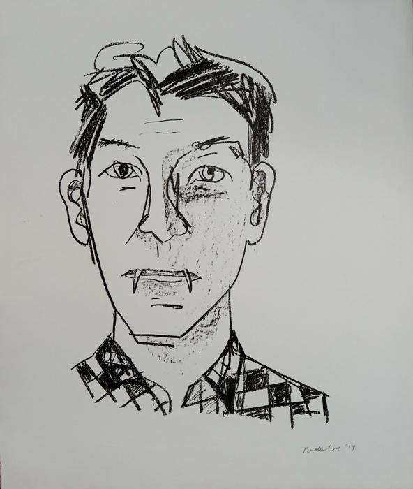 Stephan Balkenhol Vampir Griffelkunst Grafik Serigraphie