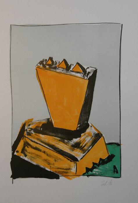 Thomas Schütte Radierung Griffelkunst verkauf contemporary art Topkünstler Building