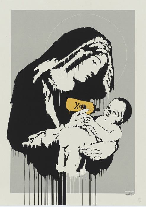 Virgin Mary Banksy after Nachdruck Reproduktion Serigrafie Giclee