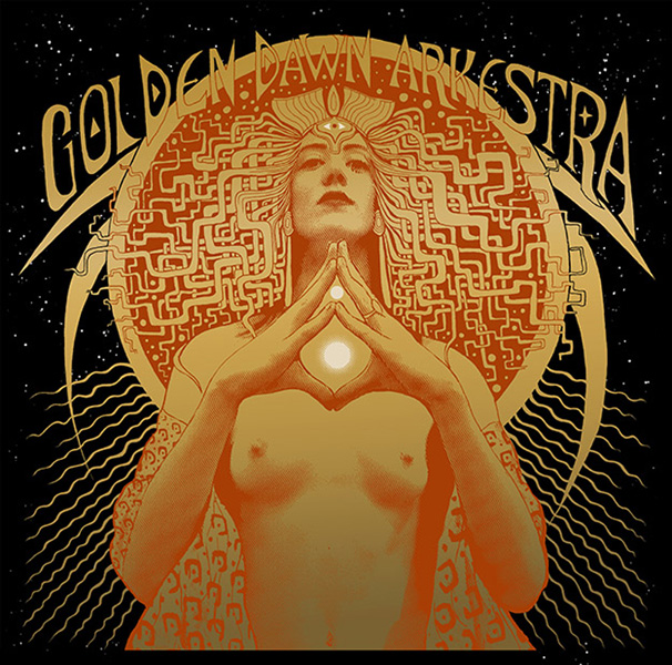 golden dawn arkestra silkscreen Siebdruck Poster art of rock psychodelic art