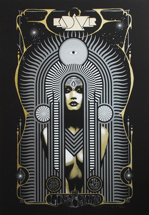 Kadavar Adam Pobiak, urban art gallery buy street art screenprint poster silkscreen siebdruck concertposter poster prints art prints rock art