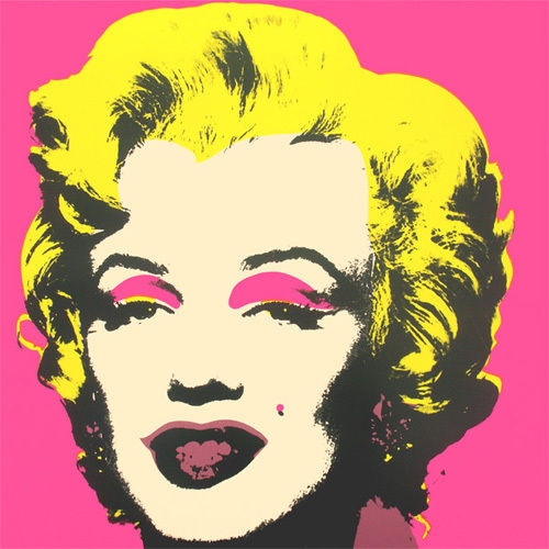 Andy warhol offset lithograpie print marylin