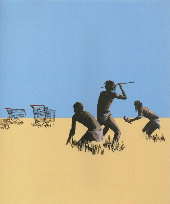 Trolleys Hunters Banksy after Nachdruck Reproduktion Serigrafie Giglee