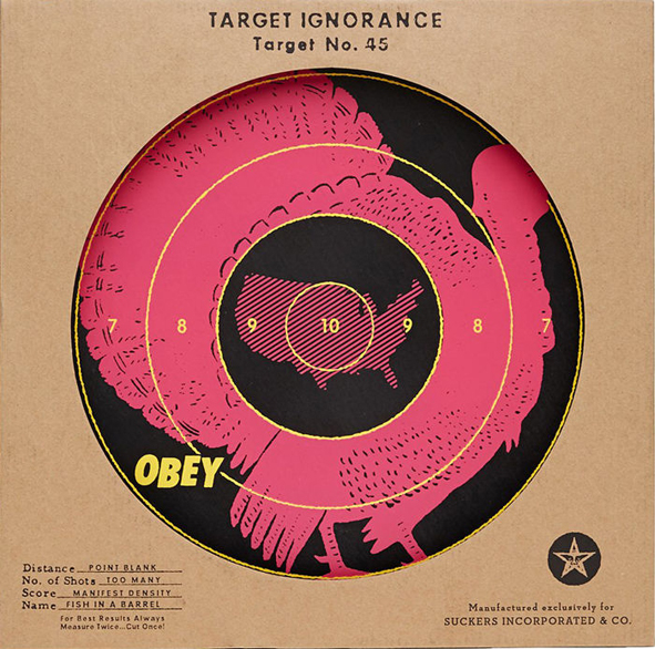shepard fairey screenprint target ignorance