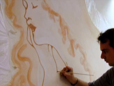 Malerbetrieb Frankfurt Wandbild Illusionsmalerei