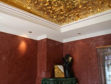 Vergoldung Wand