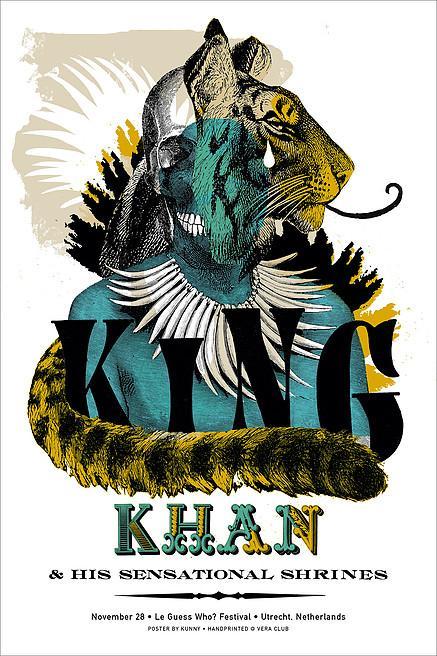 Kunny van der Ploeg siebdruck silkscreen conzert poster art of rock King Khan