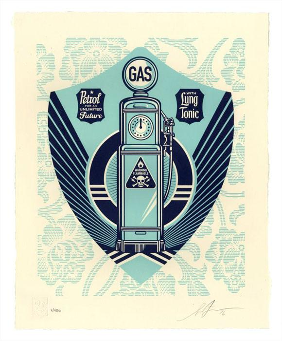 Shepard Fairey Obey silkscreen Siebdruck Letterpress 2016 endless power